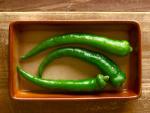 Green chilies Stock Photography