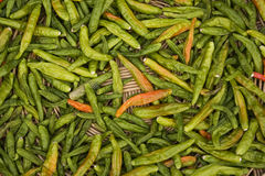 Green Chilis Stock Photography