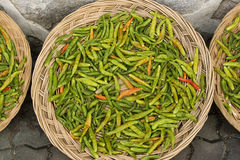 Green Chilis Royalty Free Stock Images