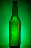 Green chilled bottle of beer Stock Image