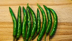 Green Chilli Stock Image