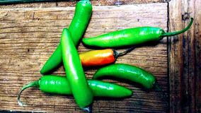 Green chilli Stock Photo