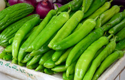 Free Green Chilli For Sale At The Market Royalty Free Stock Photo - 74454945
