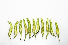 Green Chilli pepper Royalty Free Stock Image