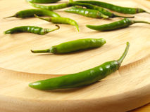 Green Chilli Peppers Royalty Free Stock Image