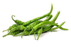 Green Chilli Peppers Royalty Free Stock Photos