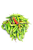 Green chillies Stock Photo