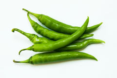 Green chillies Stock Images