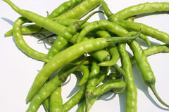 Green chillies Stock Photos