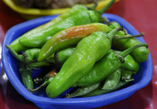 Green chillies Royalty Free Stock Photo