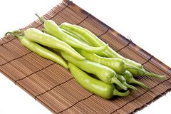 Green Chillies Isolated Royalty Free Stock Photos