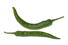 Green Chillies Macro Stock Image