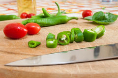 Green chillies Royalty Free Stock Photography