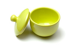 Green china soup dishware Royalty Free Stock Image