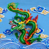 Green chinese dragon Royalty Free Stock Image
