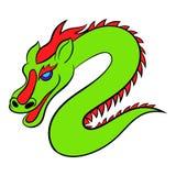 Green chinese dragon icon cartoon Royalty Free Stock Photo