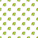 Green chinese dragon pattern, cartoon style. Green chinese dragon pattern. Cartoon illustration of green chinese dragon vector pattern for web Royalty Free Stock Photography