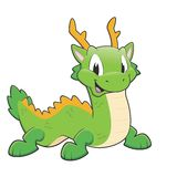 Green chinese dragon. Vector illustration of a green chinese dragon Royalty Free Stock Photography