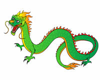 Green Chinese Dragon Stock Images