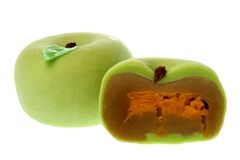Green Chinese Moon Cakes Stock Photo