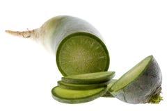 Green Chinese Radish Isolated Stock Image