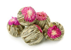 Green chinese tea balls Royalty Free Stock Photography