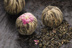 Green chinese tea balls Stock Images