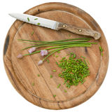 Green chives chopped Stock Image
