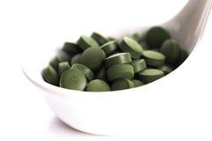 Green chlorella Stock Photo