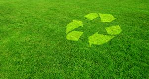 Green Choice for the Environment. Recycling Symbol and Green Choices for the Environment stock image