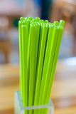 Green chopsticks set; food fool of Japanese Chinese Korean lifestyle traditional culture. Royalty Free Stock Photo