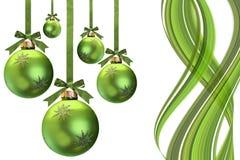 Green Christmas stock image