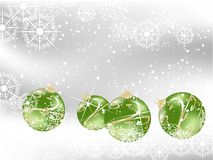 Green christmas. Background with balls Stock Photos