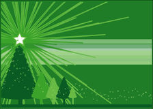 Green Christmas Royalty Free Stock Photography