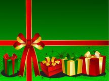 Green Christmas Backgraound Royalty Free Stock Photos