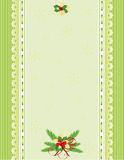 Green Christmas background. With lace and decoration, , illustration Royalty Free Stock Photos