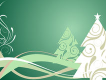 Green christmas background. Vector illustration of christmasy elements Royalty Free Stock Images