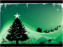 Green Christmas background. Vector illustration Stock Image