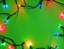 Green Christmas Background Stock Image