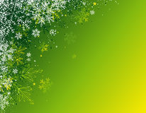 Green christmas background,. Green christmas background with snowflakes,  illustration Royalty Free Stock Images