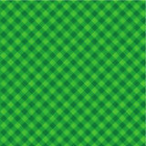 Green Christmas background. Checked green Christmas background or wallpaper with fabric texture, plus seamless pattern included in swatch palette Stock Image