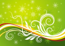 Green christmas background. Vector illustration Royalty Free Stock Images