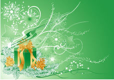 Green christmas background Royalty Free Stock Photography