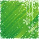 Green christmas background. Vector illustration Royalty Free Stock Photos