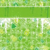 Green christmas background. Vector illustration Stock Photos