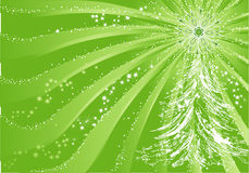 Green christmas background. With tree and snowflake Royalty Free Stock Image
