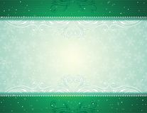 Green christmas background. Green  christmas background, vector illustration Stock Image