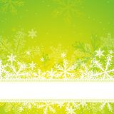 Green christmas background. Vector illustration Stock Photography