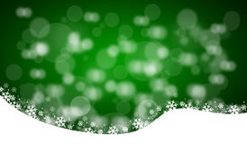 Green christmas background. With bokeh Stock Image