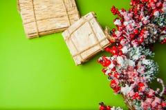 Green christmas background Stock Image